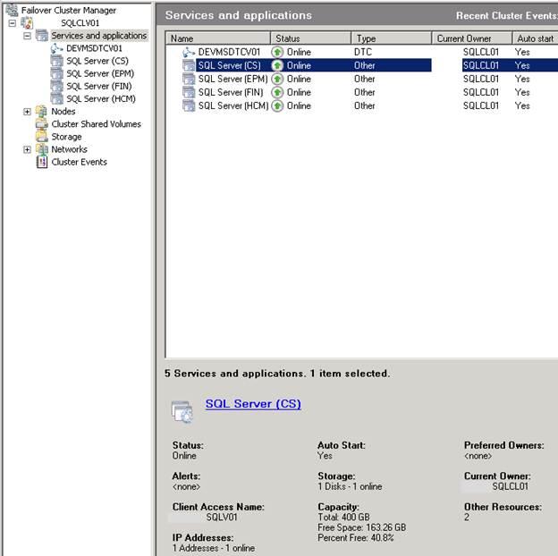 SQL Freelancer SQL Server Cluster Failover Cluster Manager