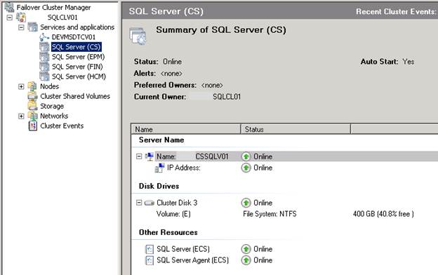 SQL Freelancer SQL Server Cluster Failover Cluster Manager