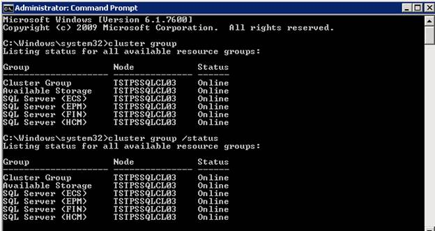 SQL Freelancer SQL Server Failover Cluster Command Prompt