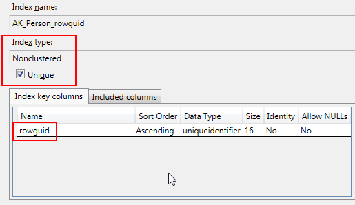 SQL Freelancer SQL Server Index Properties
