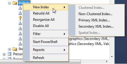 SQL Freelancer SQL Server Index Properties