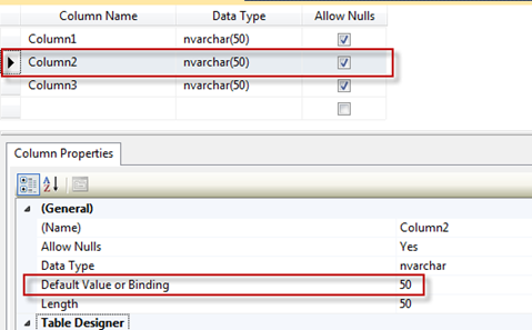 SQL Freelancer SQL Server Table Column Properties