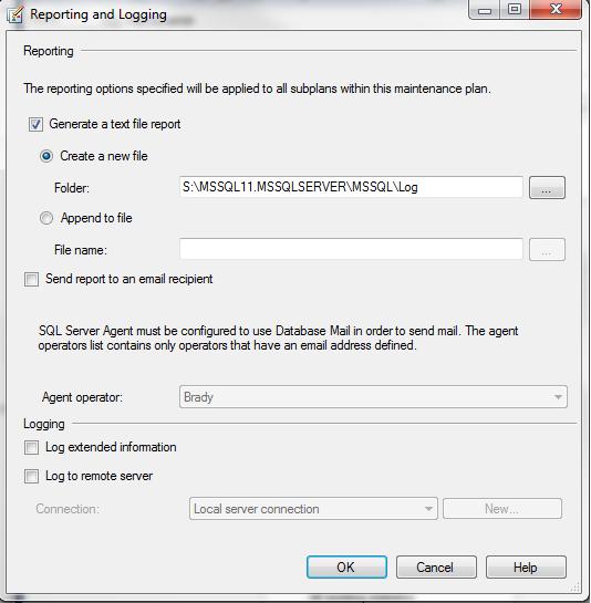 SQL Freelancer SQL Server Maintenance Plan Reporting and Logging