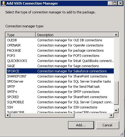 SQL Server SSIS SalesForce