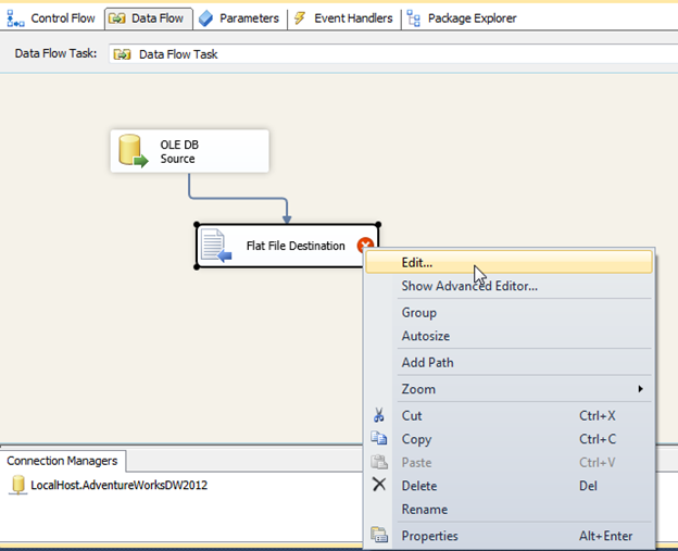 SSIS Expression Destination DateTime